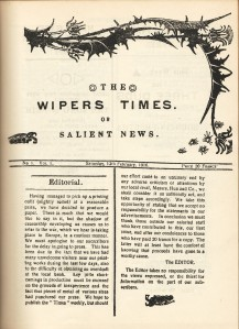 Copy of Wipers Times Vol 1 No 1