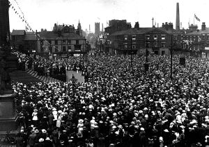 Victoria Sq Peace Day celebrations 1919comp