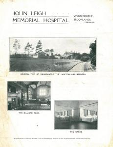 Image 3: John Leigh Memorial Hospital - Original brochure held by Trafford Local Studies.