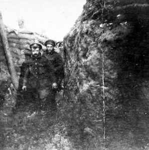 British soldiers in the trenches. From the Woodcock Collection/CfCC
