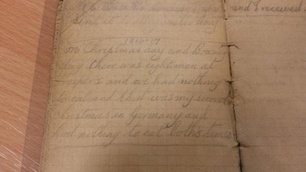 Pvt McgGrath recalls Christmas 1916-7
