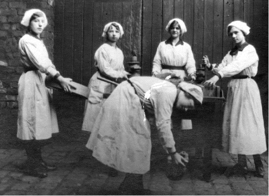 Female factory workers at Mather & Platt Ltd
