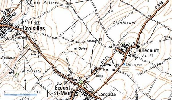 croiselles map LLT